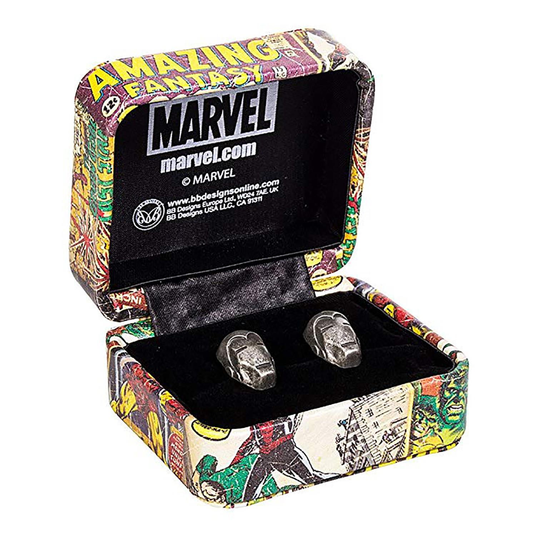 NEW UNUSED Marvel Comics Spider-Man 3-D Mask Metal Cufflinks with Gift Box U.K