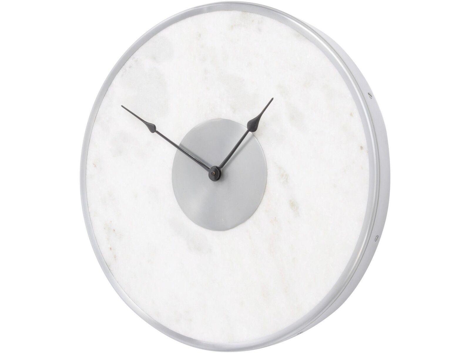 Contemporary White Marble Wall Clock Unique Art Modern House Decor 46cm 5013622152069 Ebay