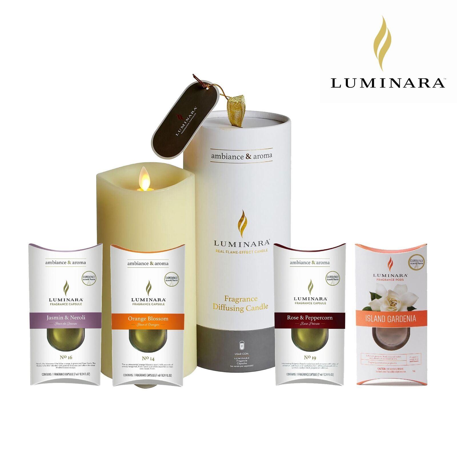 Détails sur Luminara Parfum Diffusion Cire Led Bougie sans Flammes  Vacillant avec Dessous