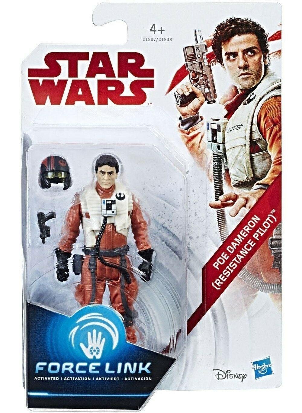 Star Wars Poe Dameron Resistance Pilot Force Link Figure