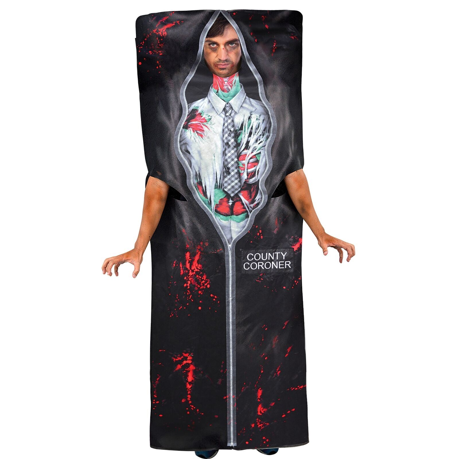 c026bf08026 Amscan Body In Bag Adult Plus Size Fancy Dress Halloween Costume Dead  Coroner