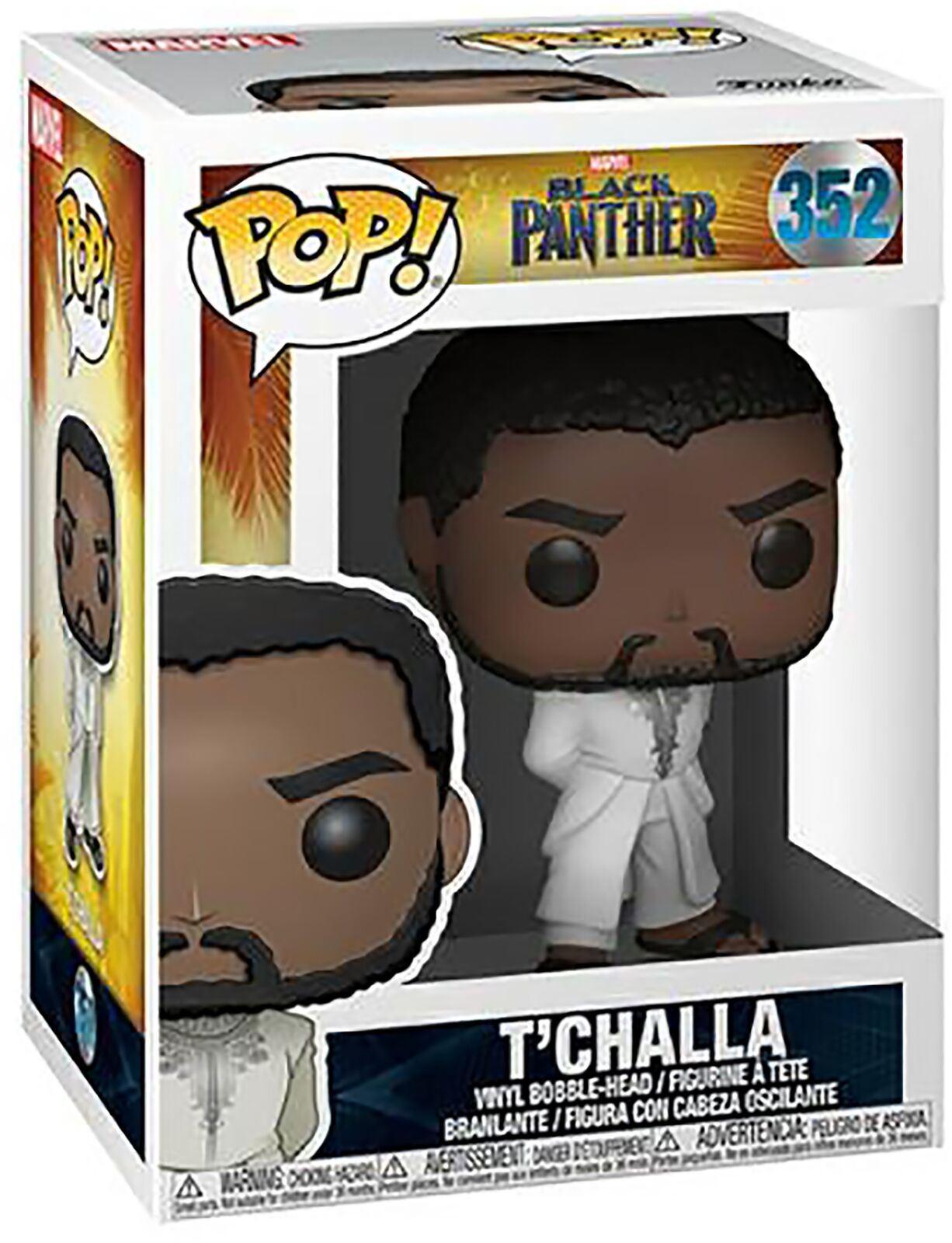 Black Panther T/'Challa With White Robe Vinyl Figure #352 Funko Pop