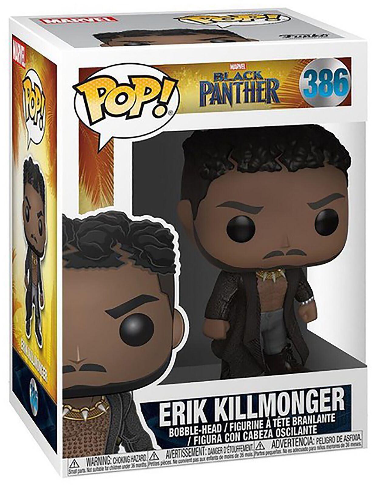 MARVEL Black Panther-Erik Killmonger con cicatrices FUNKO POP Vinilo Figura #386!