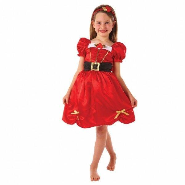 Filles Miss Santa Costume Robe Fantaisie