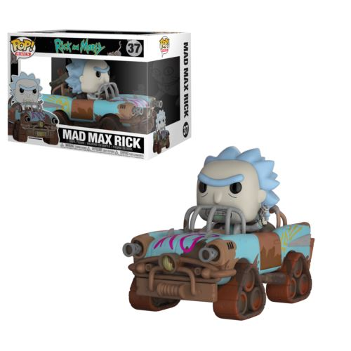 Vinyl Rides Rick /& Morty Mad Max Rick Figure Model Collectable No 37 Funko Pop
