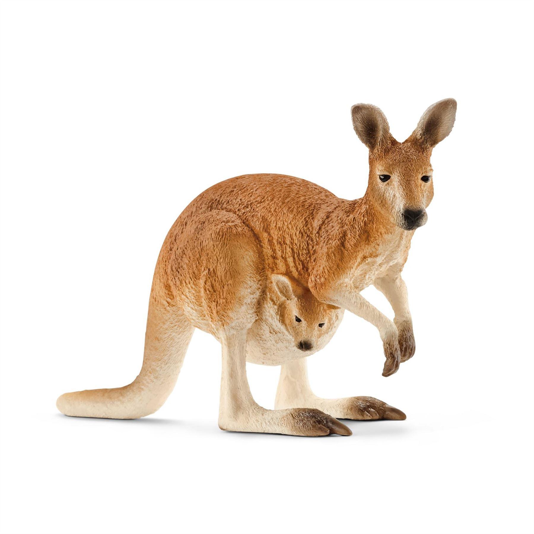 Schleich Canguro Pack Animales Zoo de Vida Silvestre Mar figuras de modelo de vida