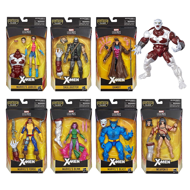 Marvel Legends Hasbro X-Men 2019 Caliban Wave BAF Complete