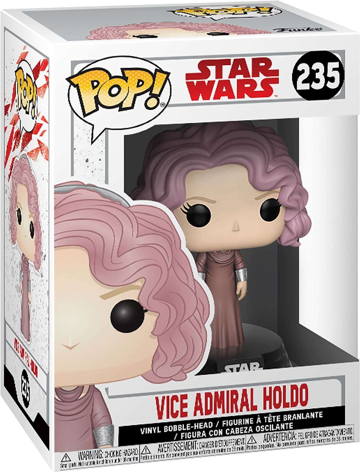 Funko POP Vinyle Star Wars The Last Jedi vice-amiral holdo #235 Figure