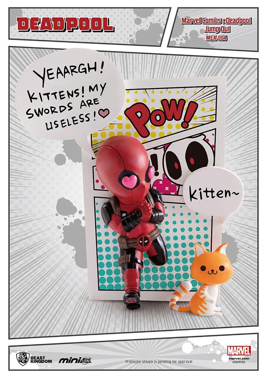 Marvel Comics Mini Egg Attack Figure Deadpool Cupid 9 cm Figures