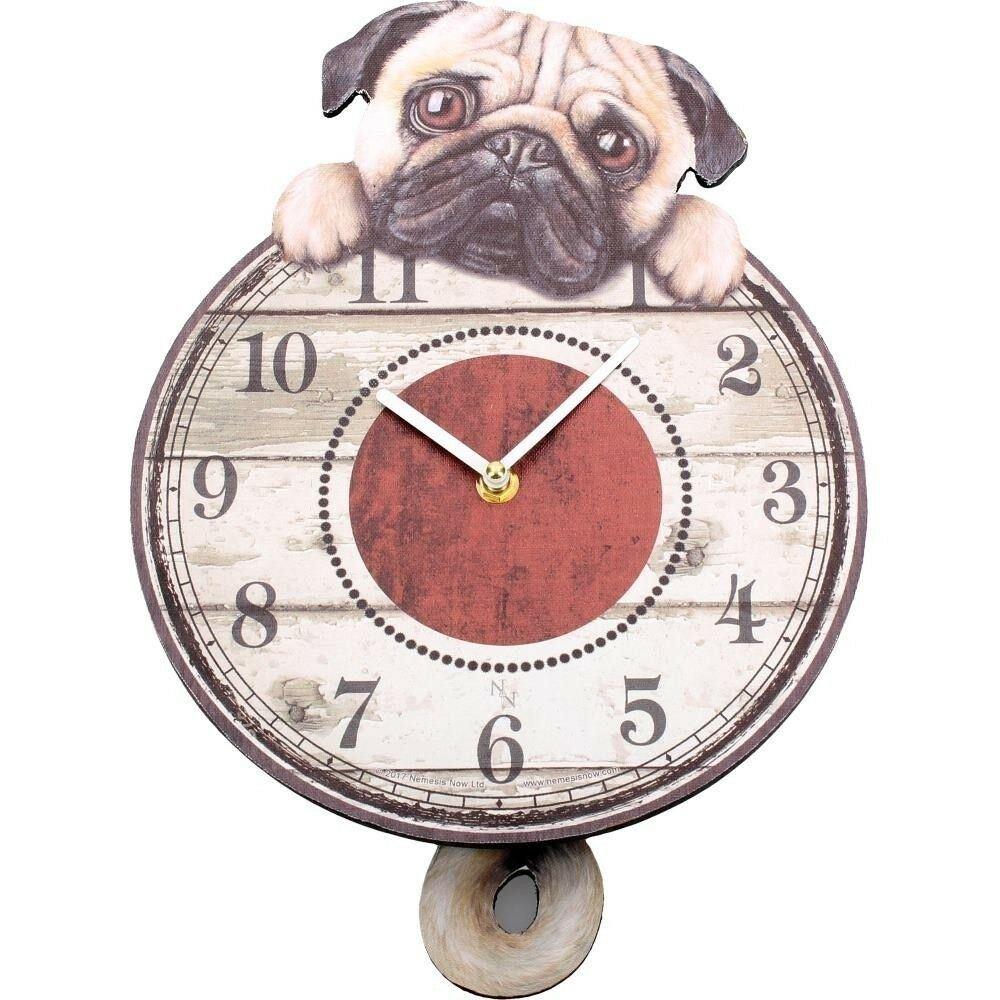 Nemesis Now Puggin Tickin Puppy Dog Pendulum Tail Animal Wall Clock 801269122324 Ebay