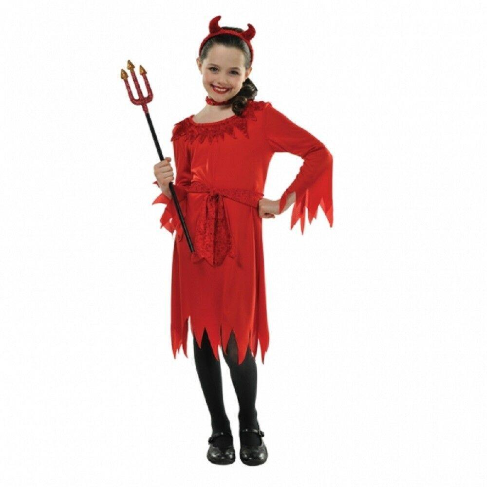 Guantity limitata 50% di sconto qualità autentica Lil Diavolo Rosso Costume Costume da Halloween Bambino Bambine 4 ...