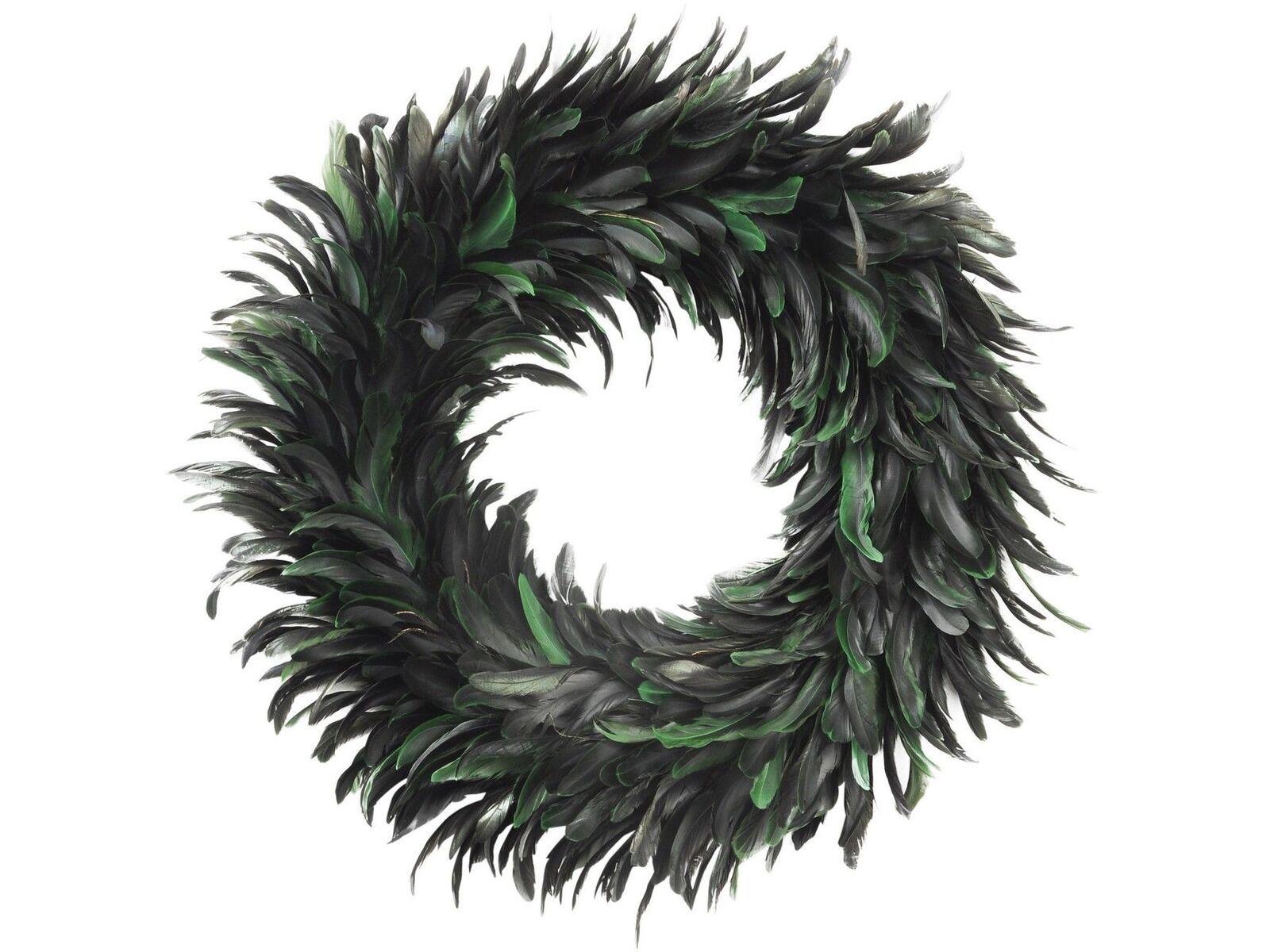 Libra Feather Large Green Wreath Christmas Decoration Door