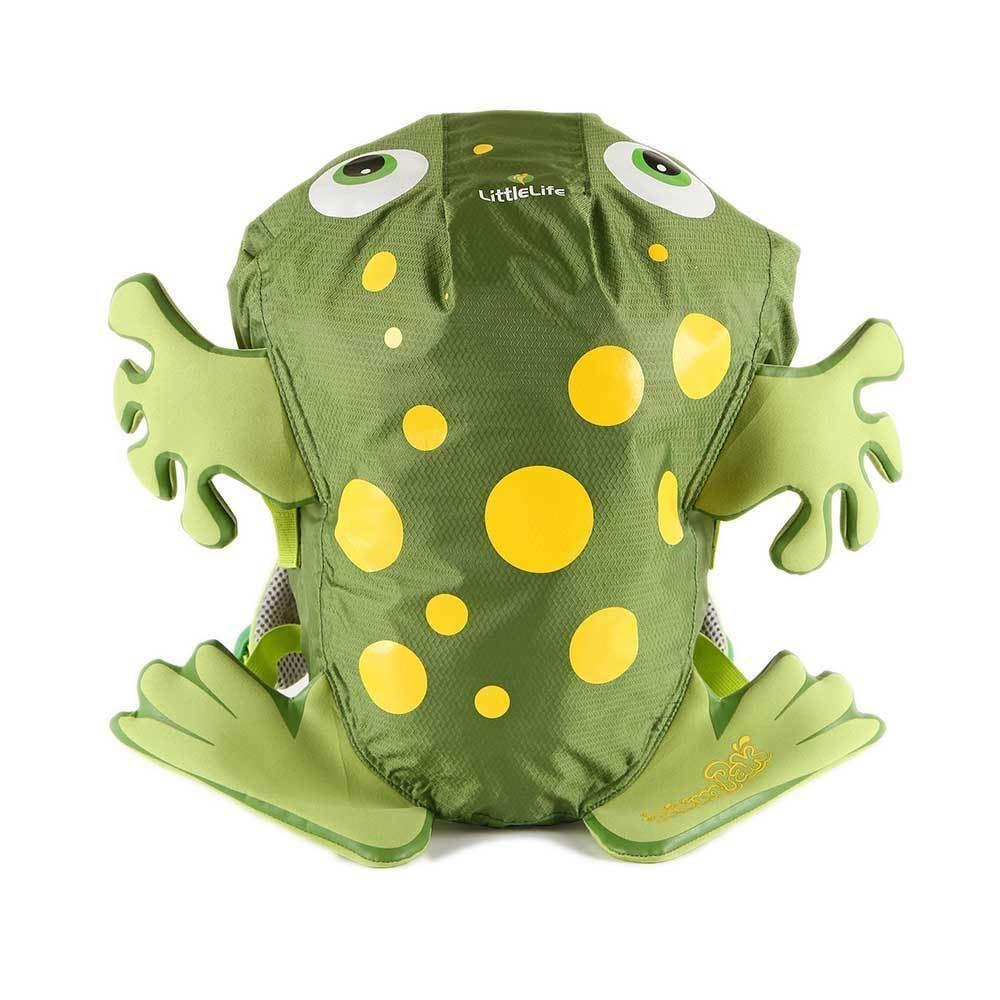 LittleLife Frog SwimPak Green Swimming Splash Resistant Kids Backpack 10 Litres