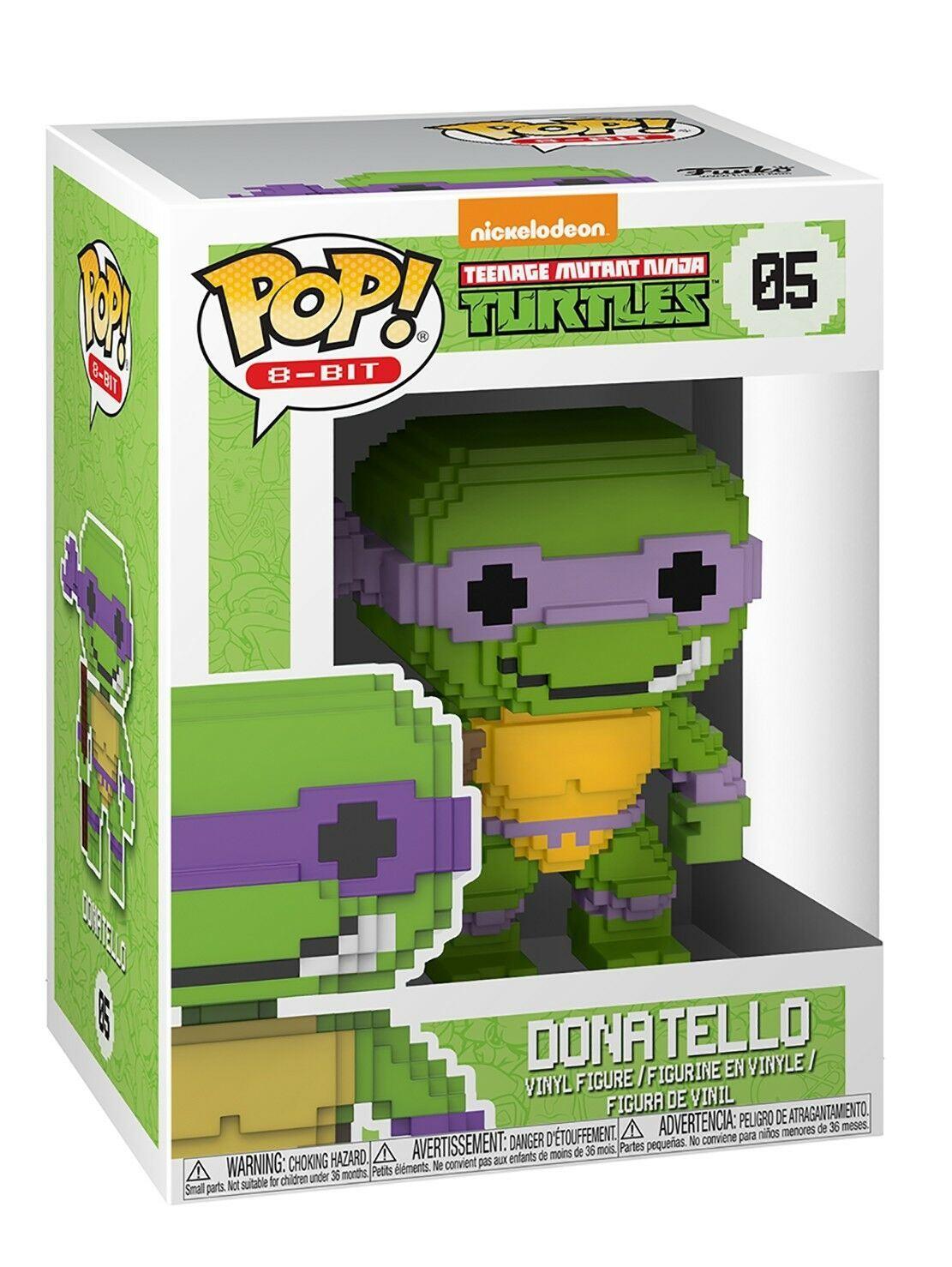 Funko Teenage Mutant Ninja Turtles POP Donatello 8 Bit Vinyl Figure NEW IN STOCK