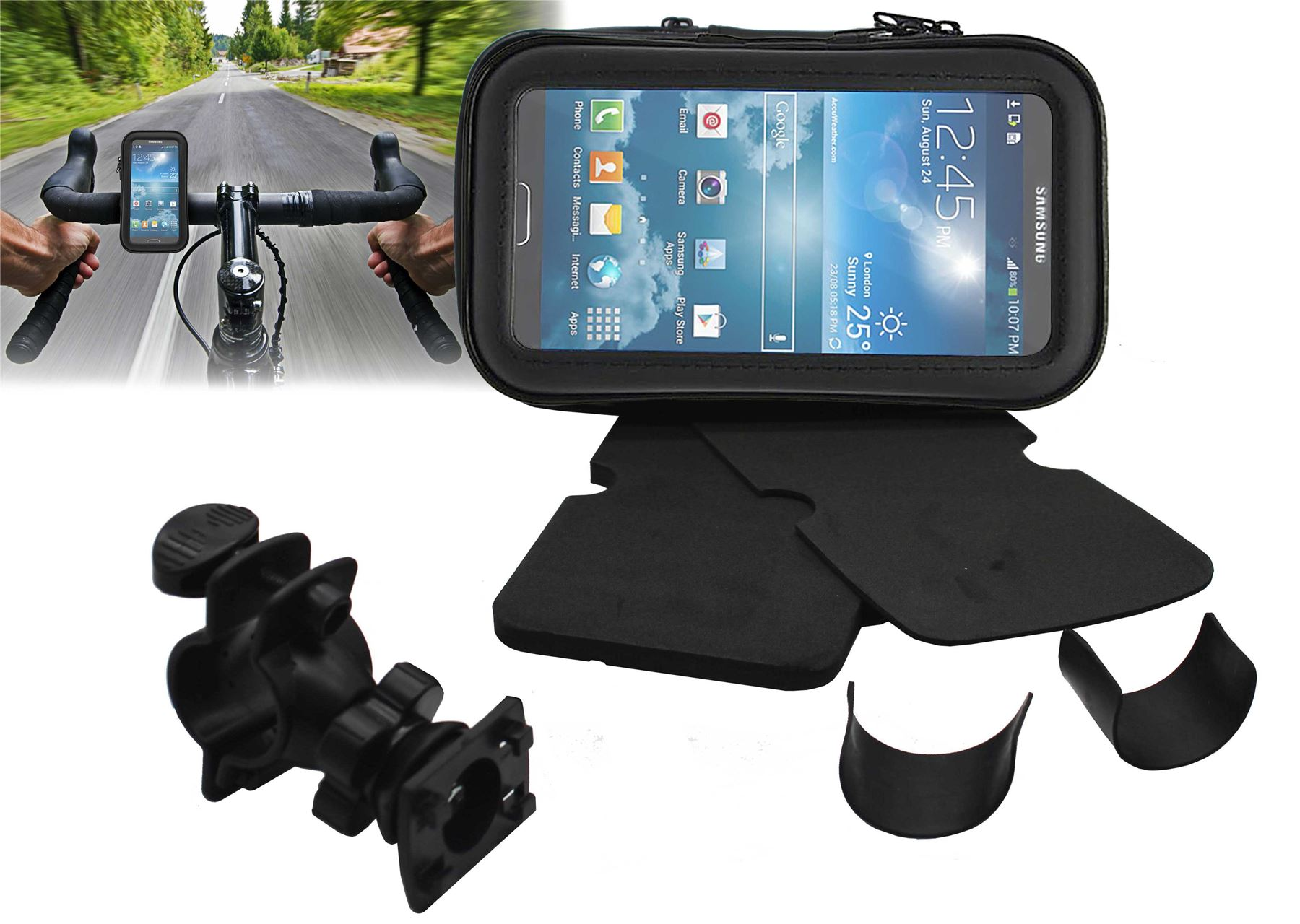 360-Degree-Universal-Bicycle-Bike-Waterproof-Case-Mount-Holder-For-HTC-Mobiles