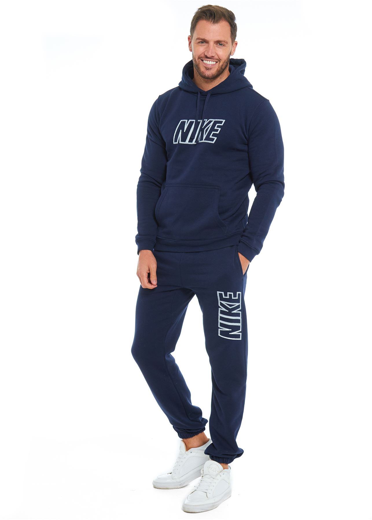 Stay comfy with a pair of joggers or a tracksuit for men from boohoo.