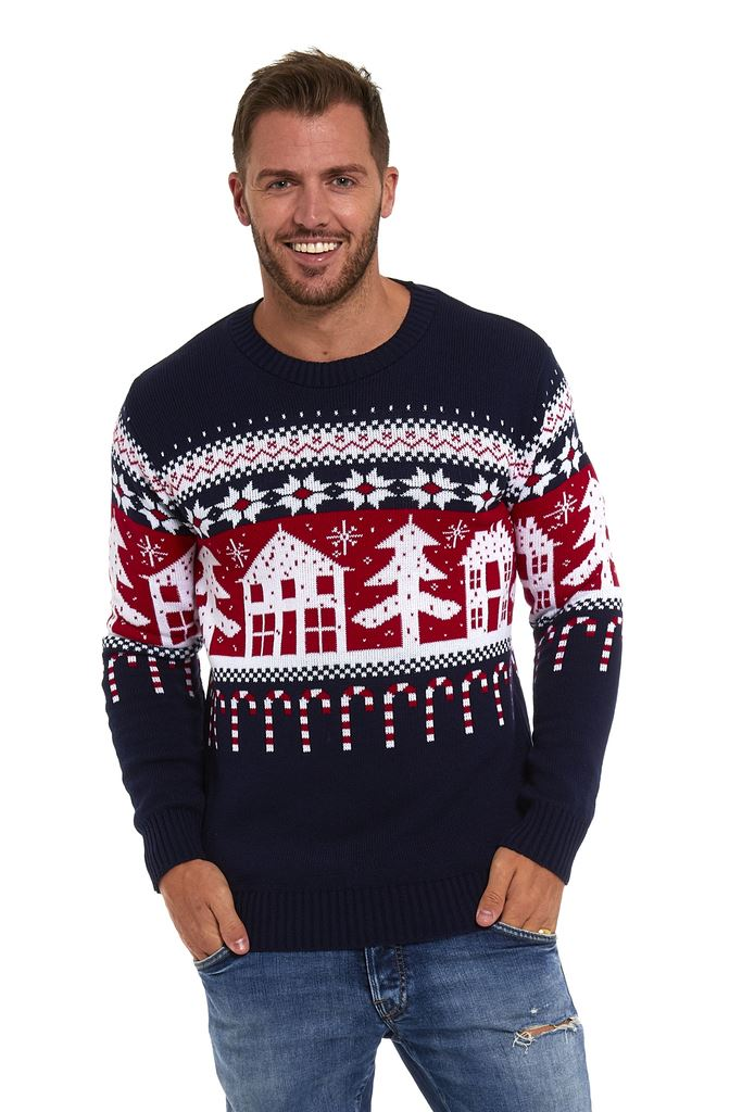 Mens Xmas Jumpers Christmas Sweater Pullover Novelty Classic Retro ...