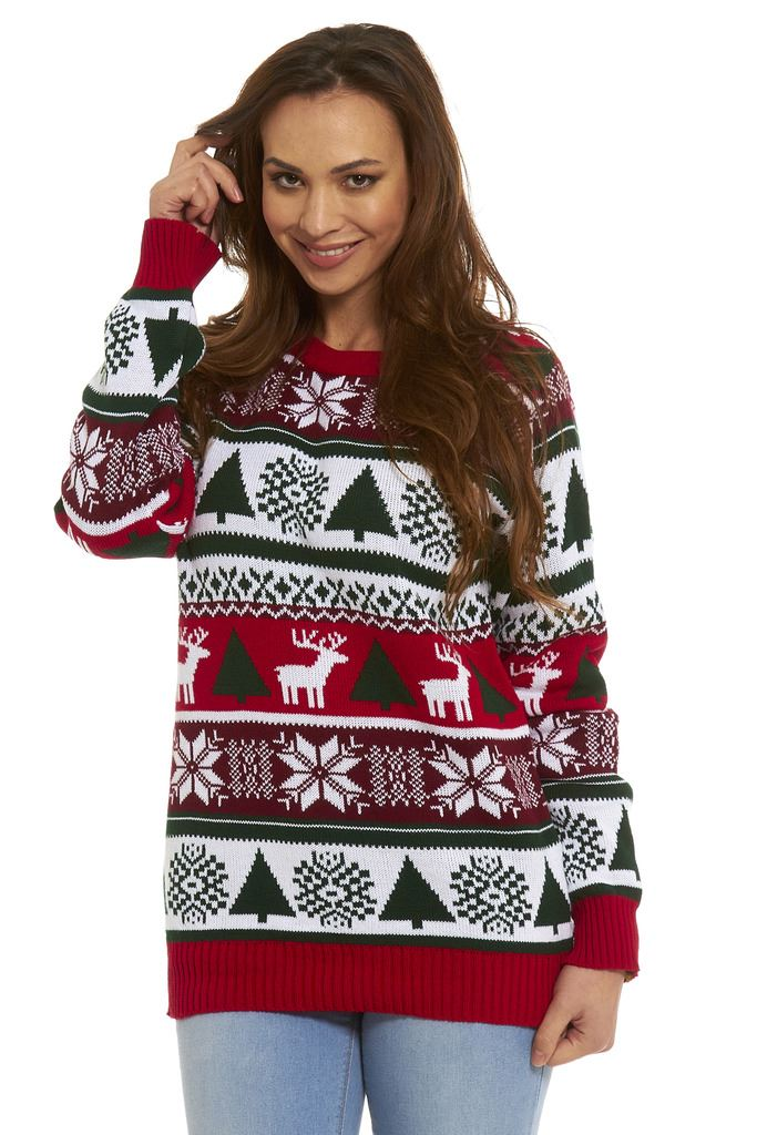 Ladies Christmas Jumper Womens New 2017 Novelty Xmas Knitted Retro