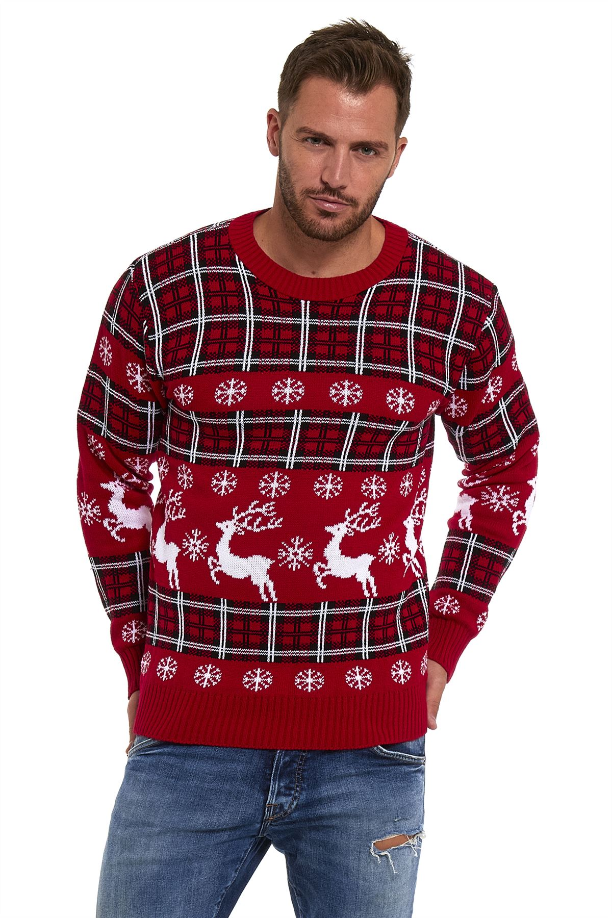 Mens-Xmas-Jumpers-Christmas-Sweater-Pullover-Novelty-Classic-Retro-Vintage-2017