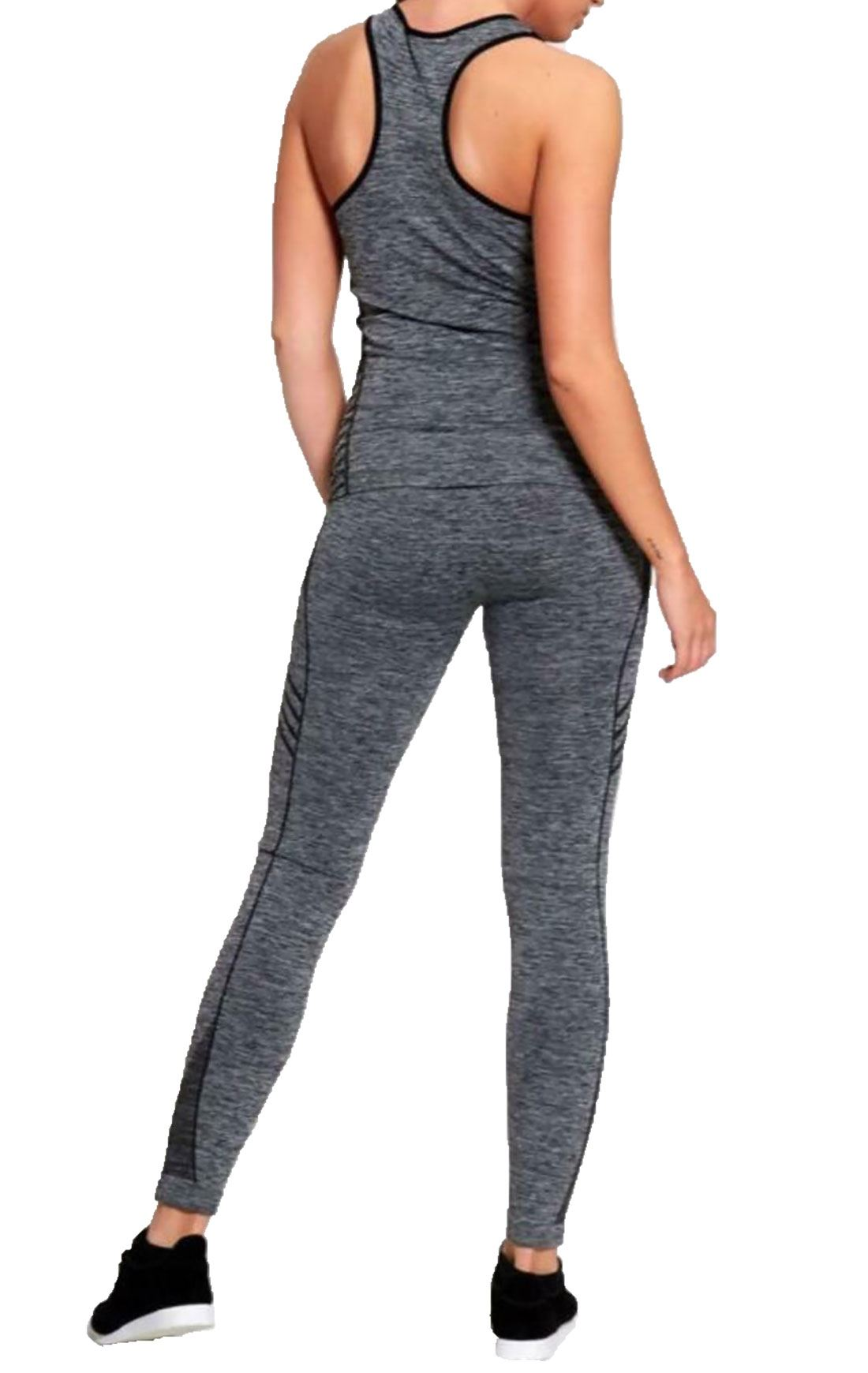 Ladies Active Gym Wear Tracksuit Womens Sports Wear Vest And Leggings Co Ord Set