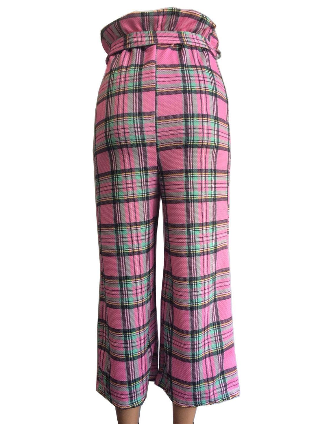 Womens Paper Bag Full Length Trouser Ladies Fancy Party