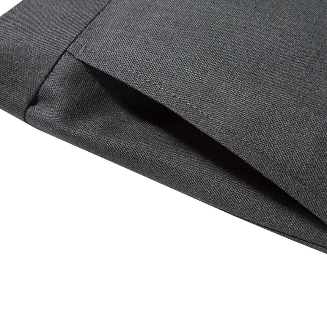 Mens Plain Smart Belt Pocket Business Pants Boys Fancy Office Wear Trousers