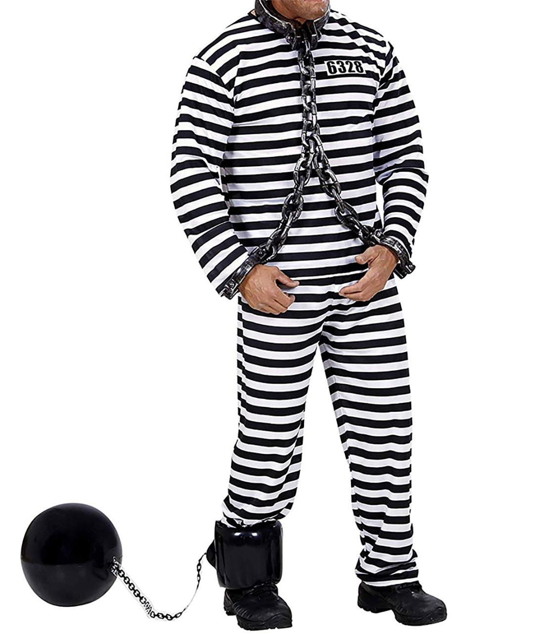 Inflatable Ball 30cm and Chain 60cm Kids Prisoner Convict Stag Fancy Dress Party