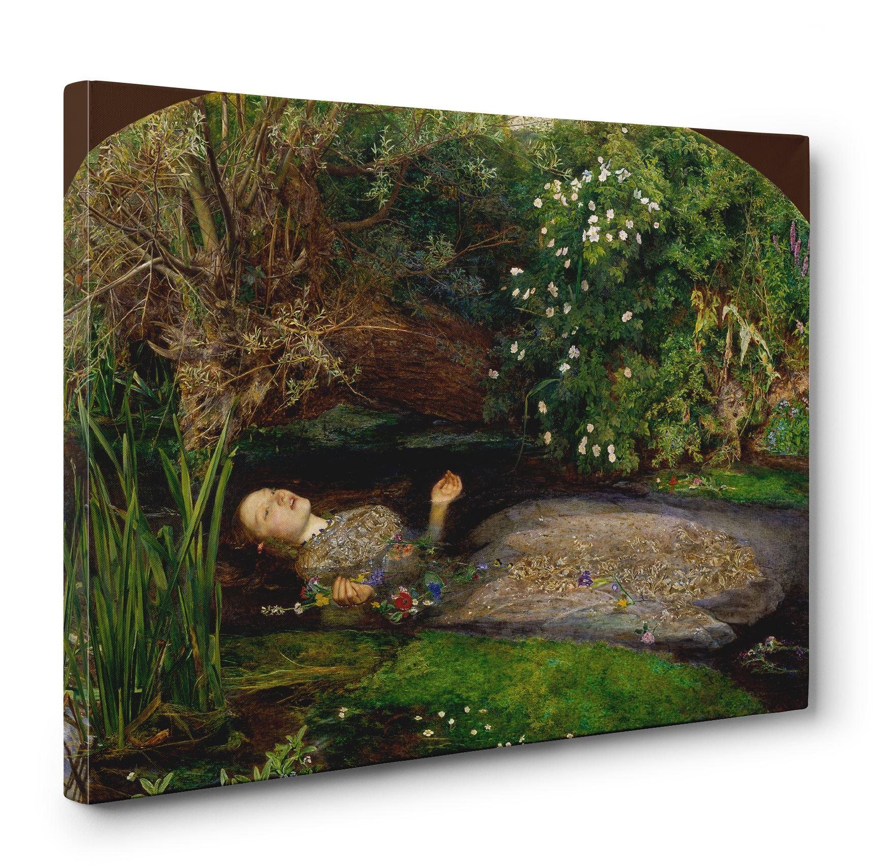 Details About John Everett Millais Ophelia Box Canvas Print Wall Art Pre Raphaelite