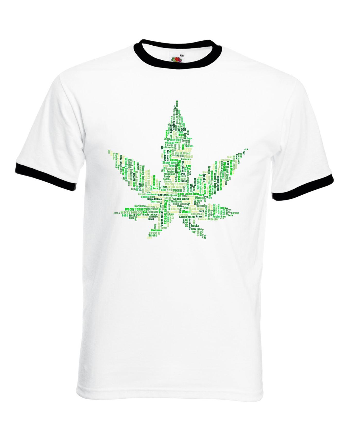 Big men/'s t-shirt 420 pot leaf cannabis weed decal graphic tall tee 5X 6X 7X 10X