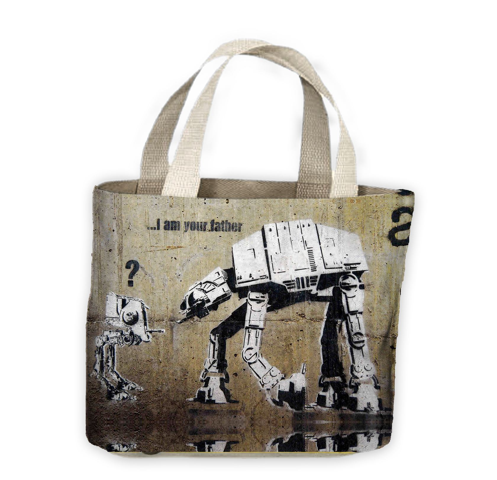Banksy I Am Your Father Tote Shopping Bag For Life