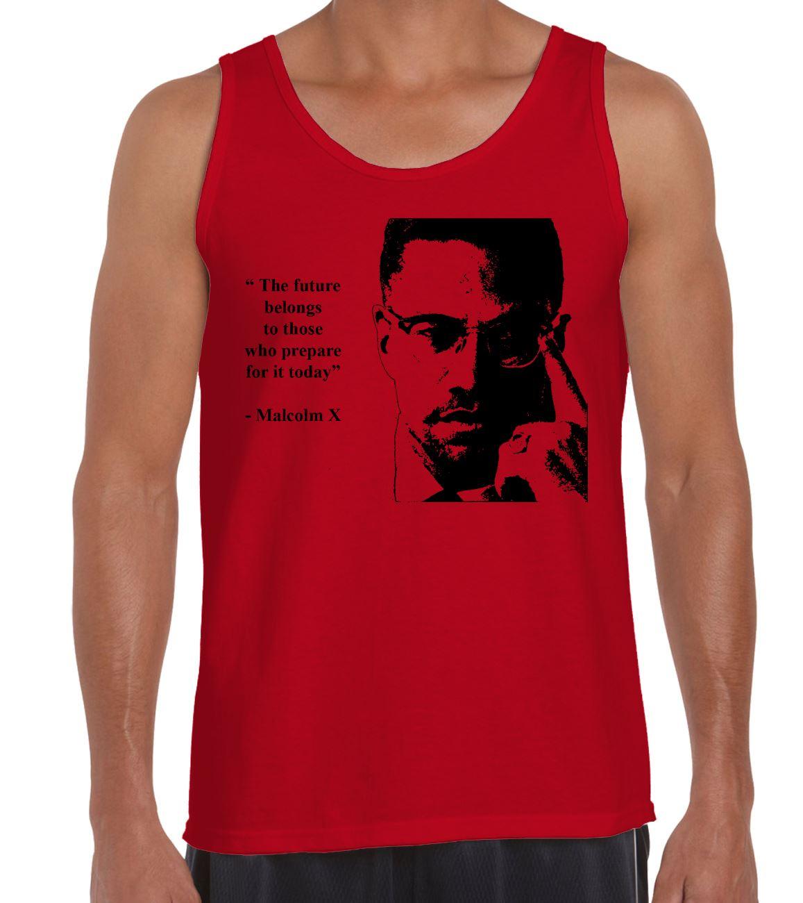 f0c90f7e Malcolm X Future Quote Men's Vest Tank Top - Civil Rights Black Panther T- Shirt