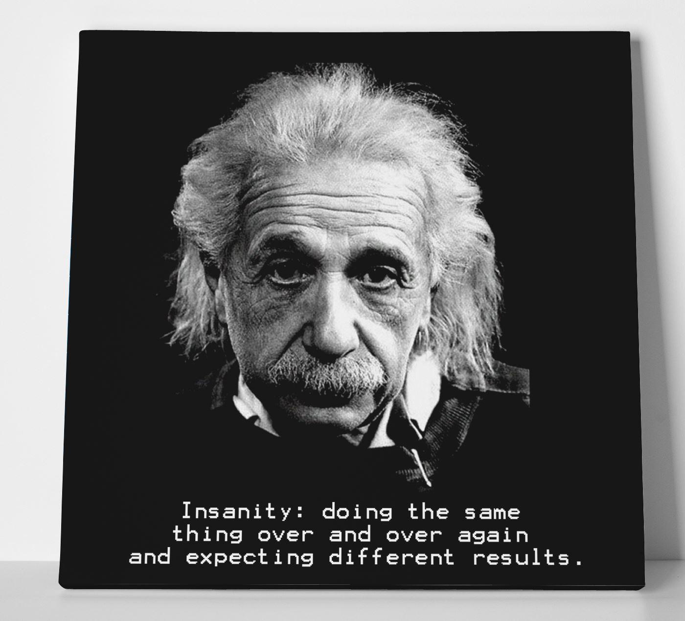 Albert Einstein Insanity Quote Box Canvas Print Wall Art Physics