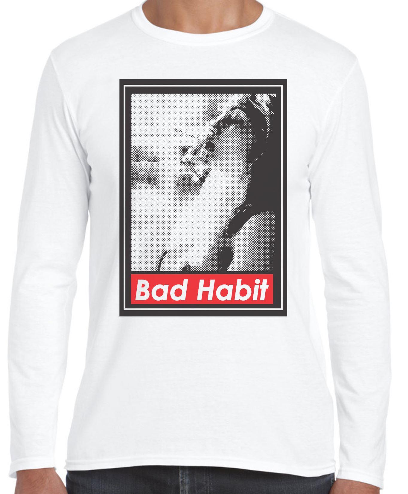 Brutta-abitudine-di-fumare-Ragazza-Manica-Lunga-T-Shirt-Cannabis-Weed-Spinello
