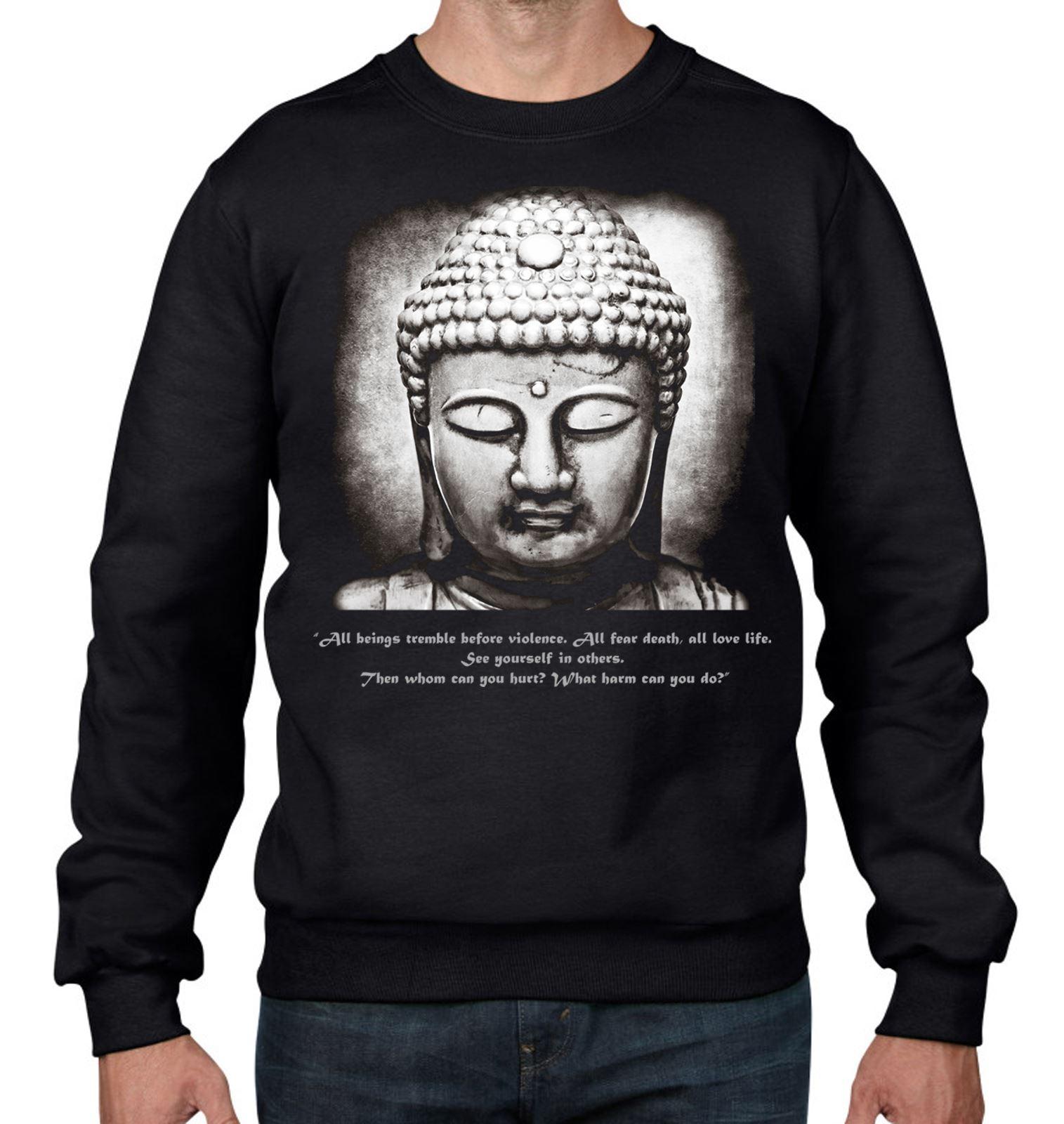 Wellcoda Buddha Meditation Mens Sweatshirt Hindu Casual Pullover Jumper