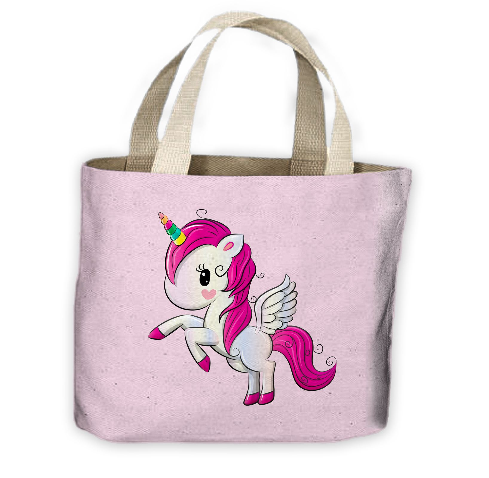 d4f1e2fc3c54 Details about Cartoon Unicorn All Over Tote Shopping Bag For Life