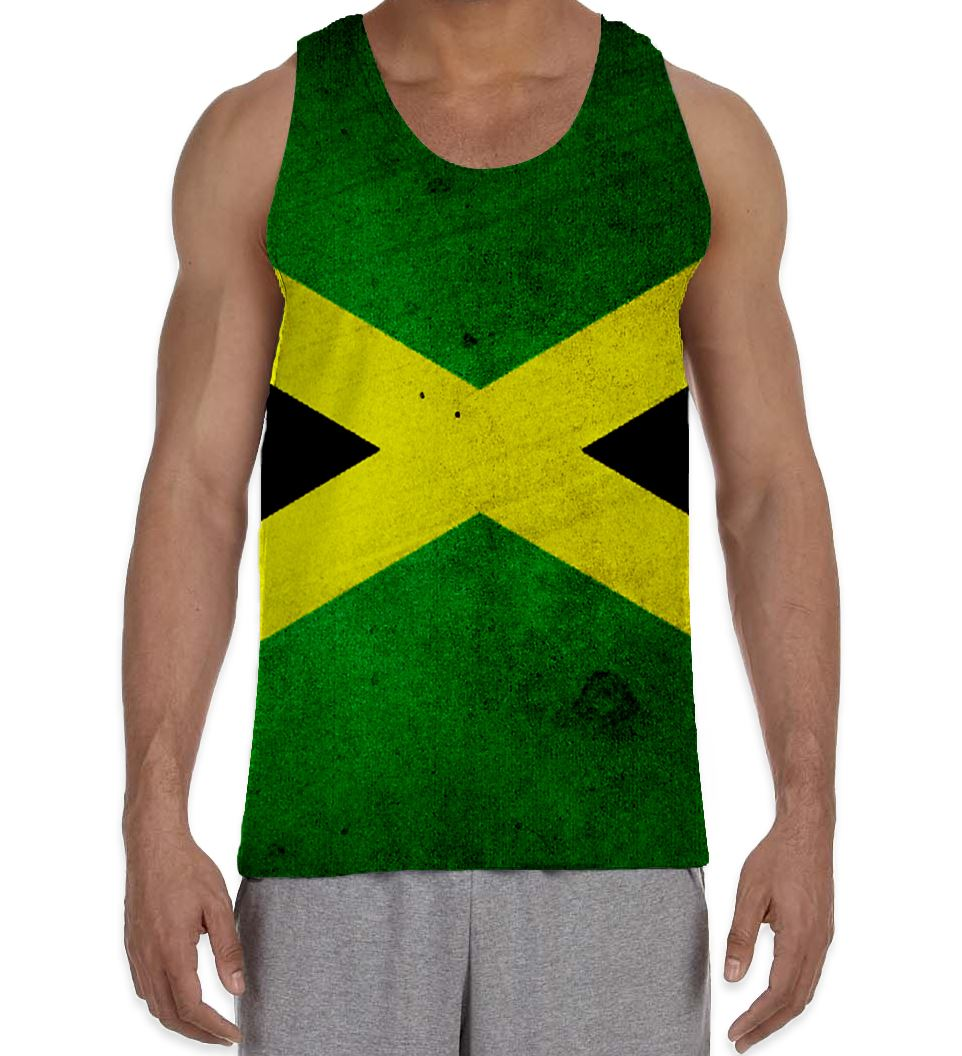 Big and tall t-shirt Jamaican flag Jamaica colors tee shirt for men king size