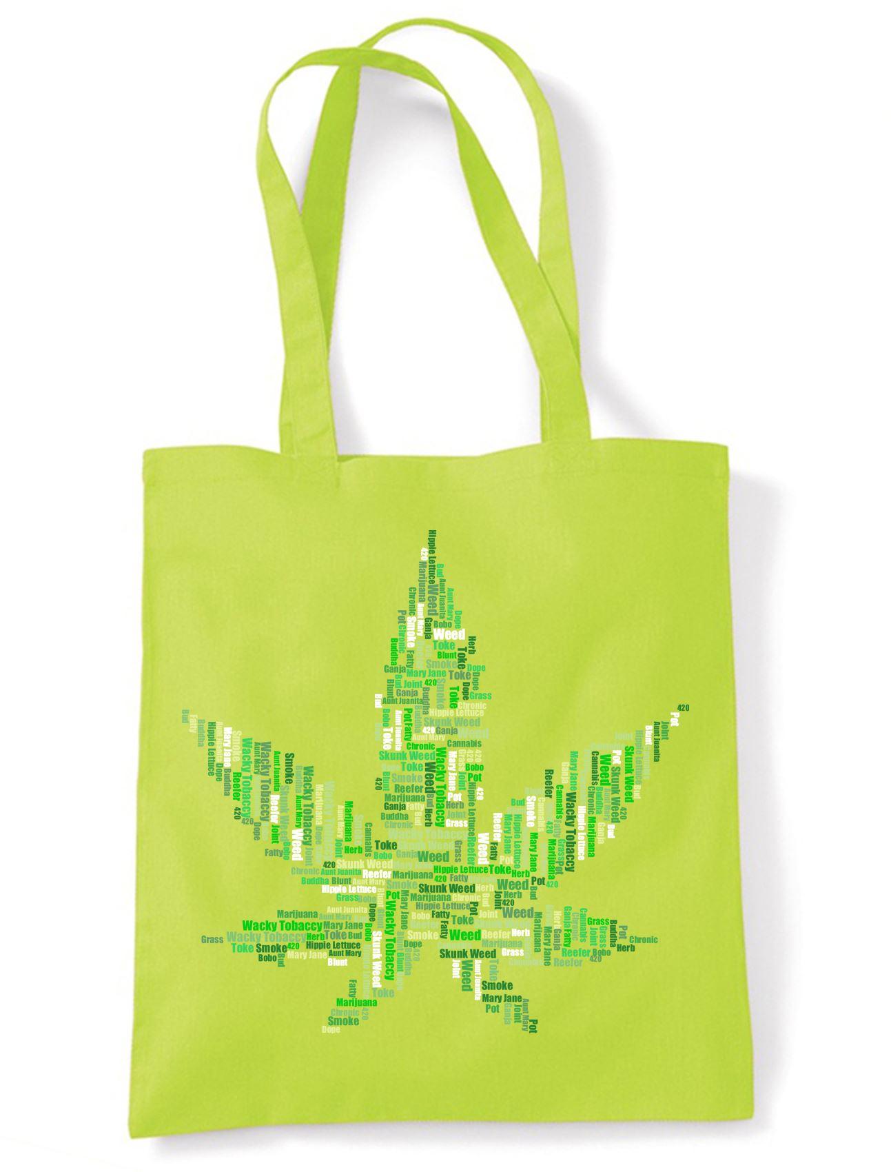 Details about Cannabis Slang Names Funny Tote Shoulder Shopping Bag