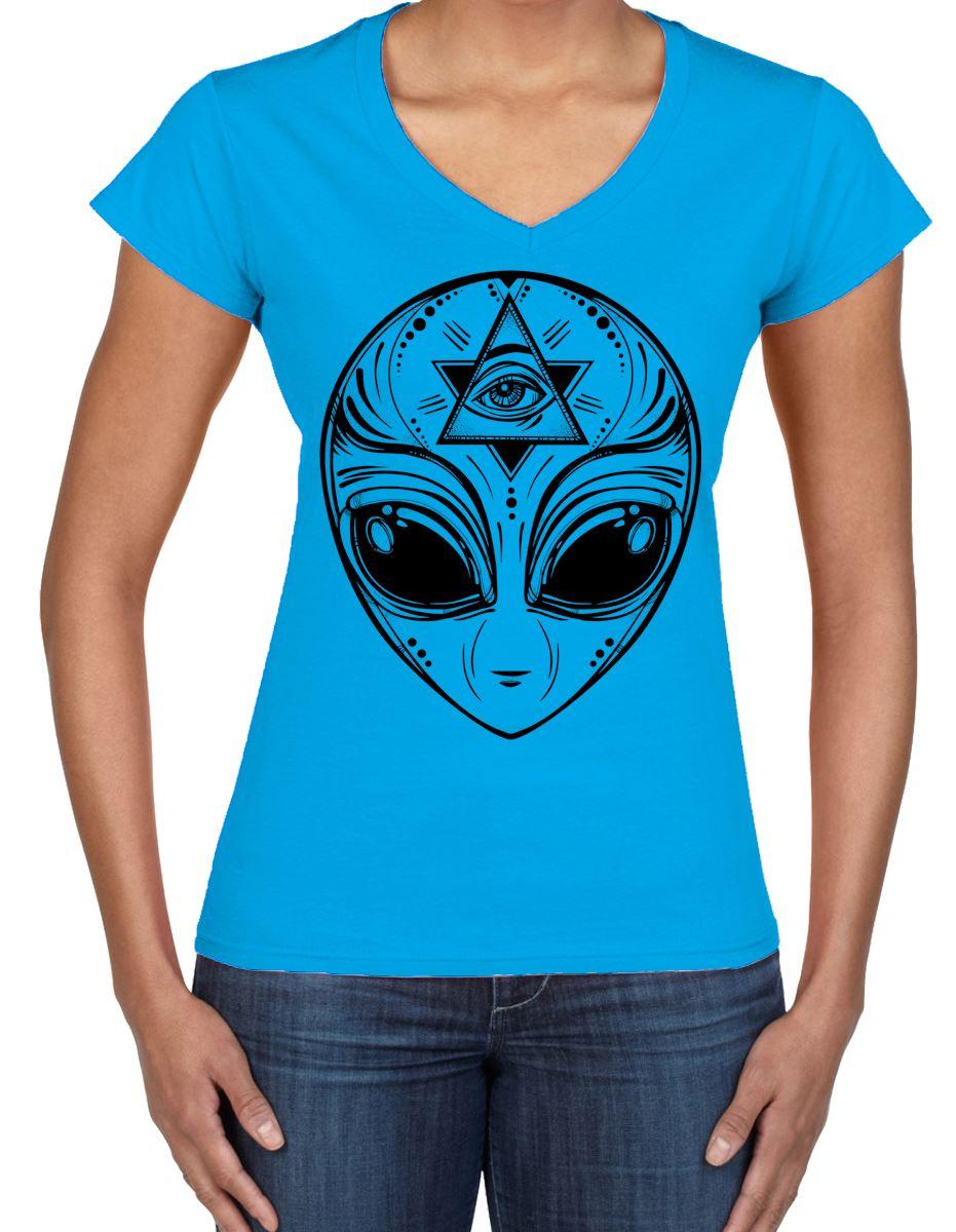 Alien Face Area 51 UFO Large Print Women/'s Vest Tank Top