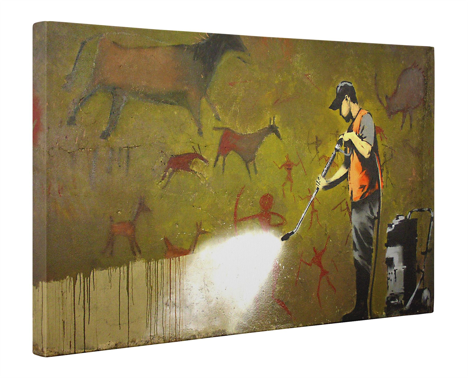 Banksy Cave Paintings Box Canvas Print Wall Art - Choice of Sizes | eBay