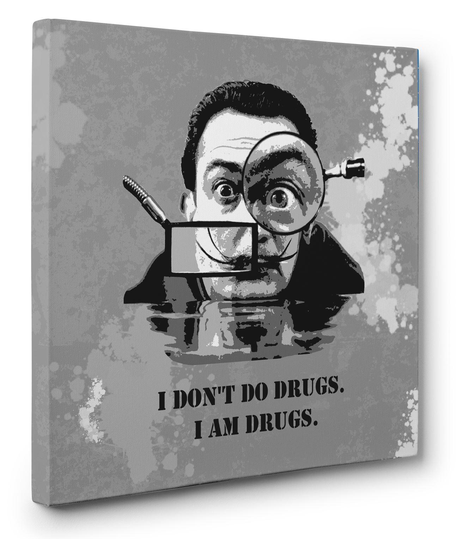 Drug Quotation Canvas Wall Art Picture Print Salvador-Dali