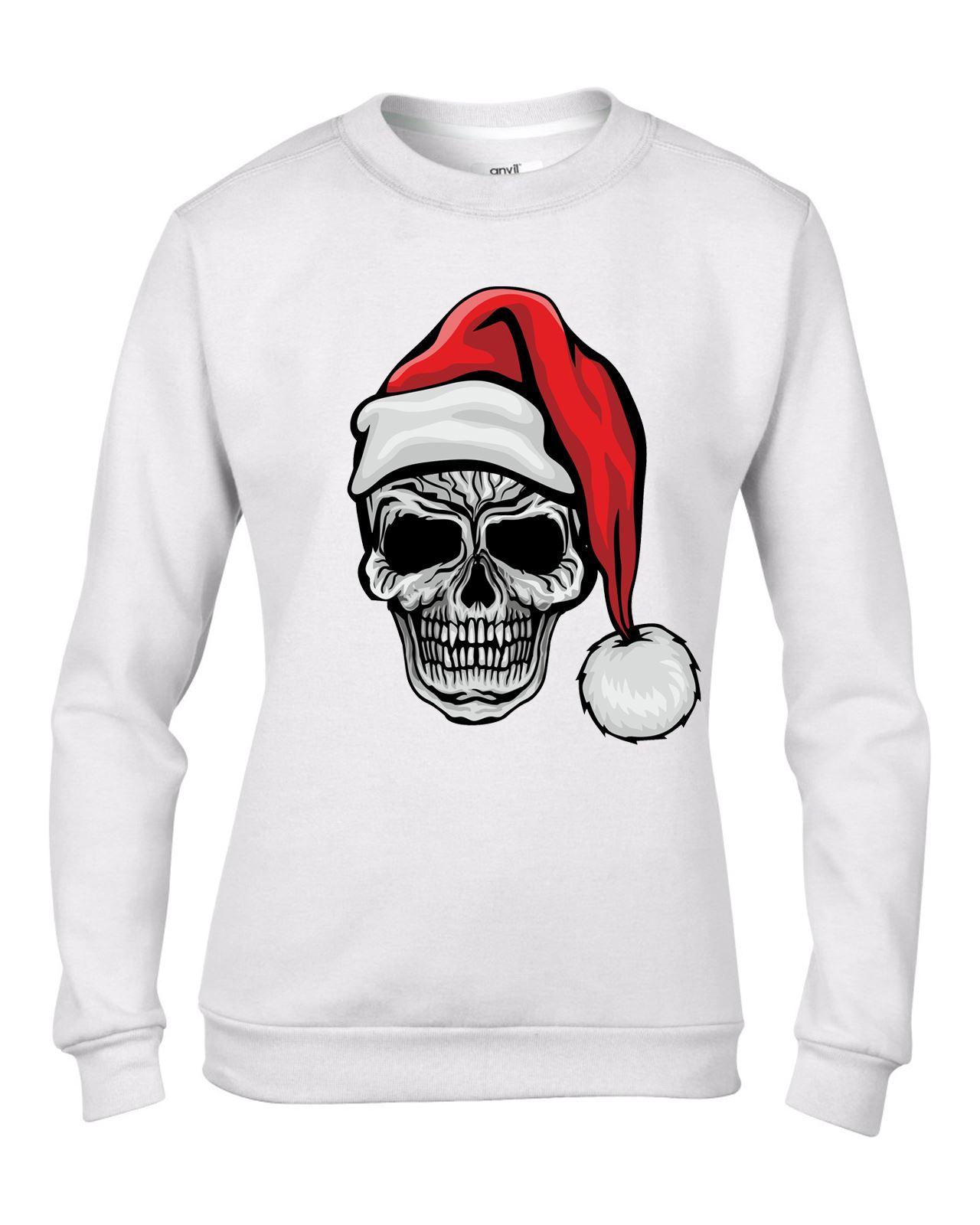 Childrens Santa Claus Skull Father Christmas Bah Humbug Kids Sweater \ Jumper