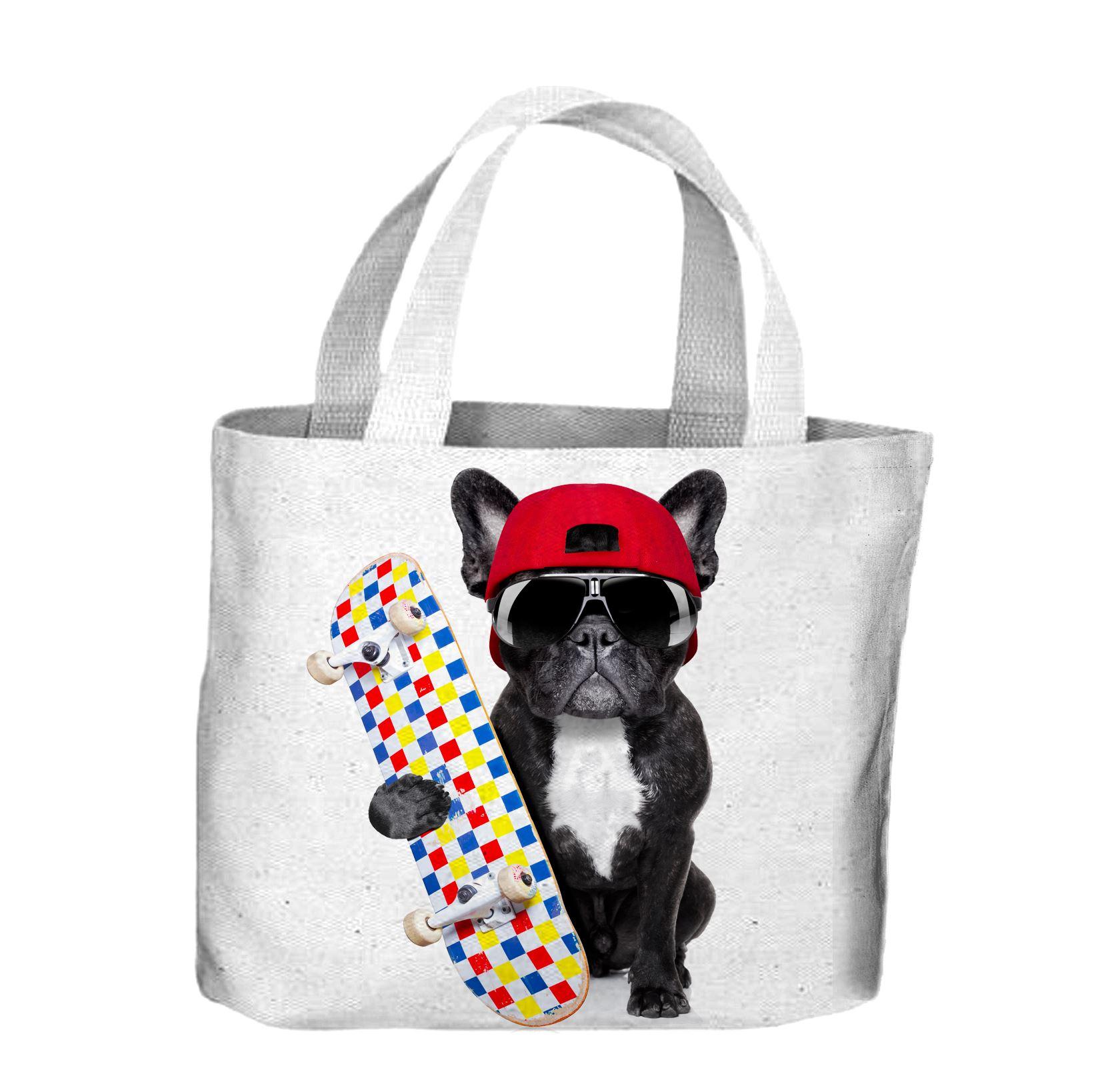 French Bulldog Skateboarder Tote Shopping Bag For Life 5056114013080 ... 578645de00