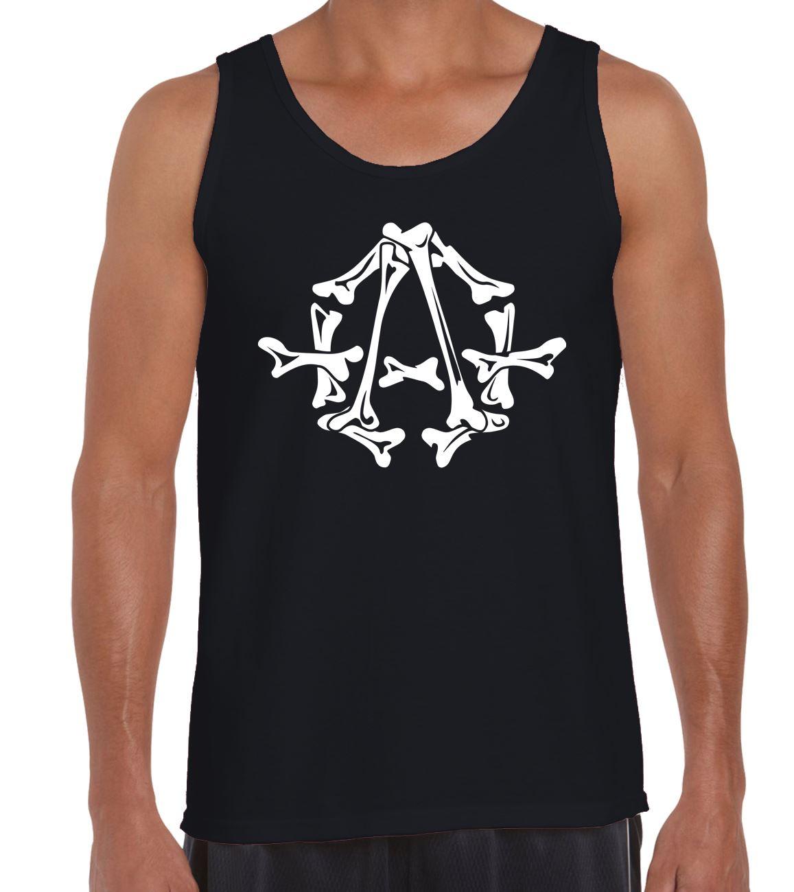 a93dae6017998 Anarchy Bones Symbol Men s Vest Tank Top - Anarchist Political Punk ...