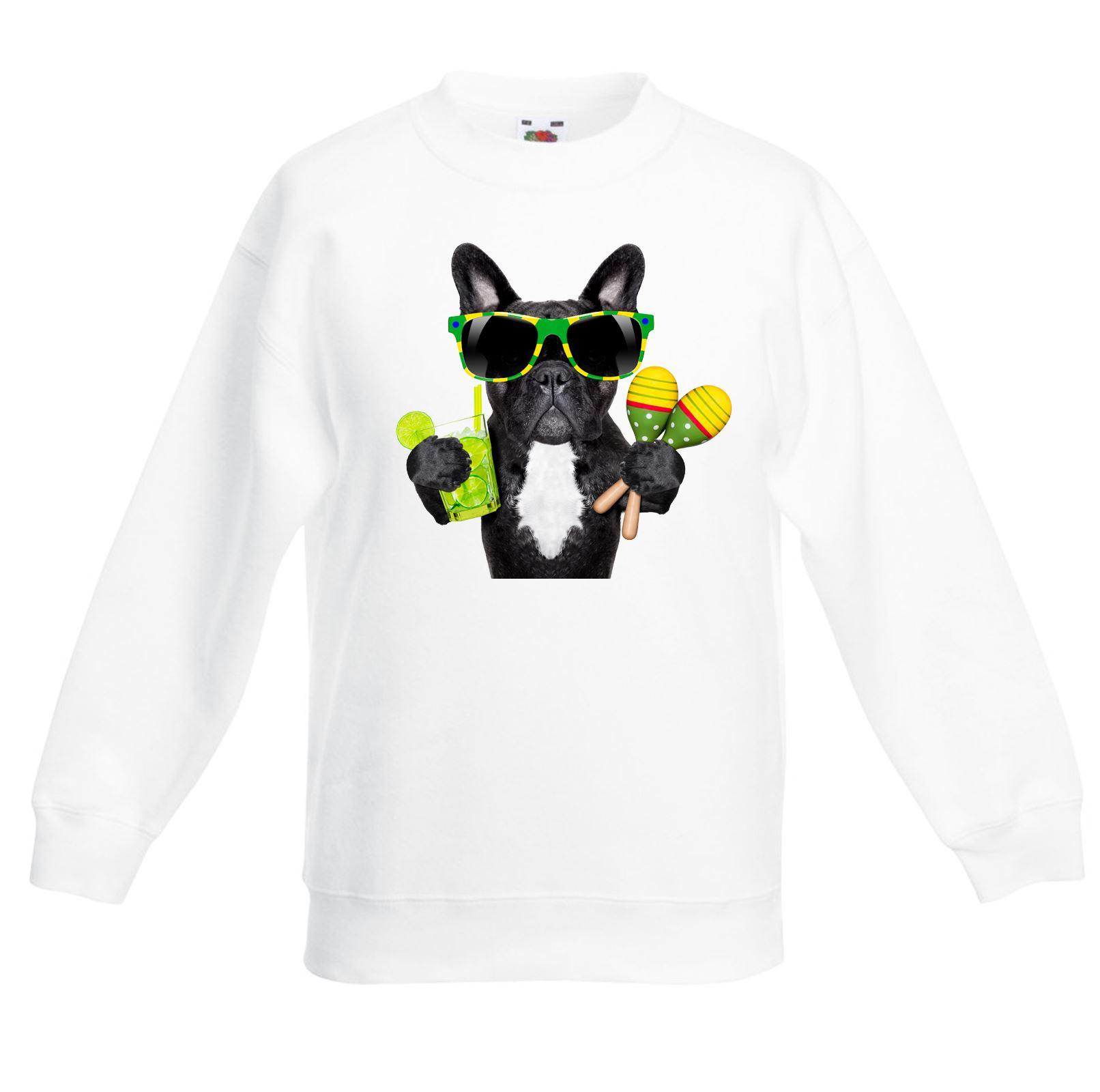 Bonjour Bulldog Face Dog Puppy Funny Kids Childrens T-Shirt tee TShirt