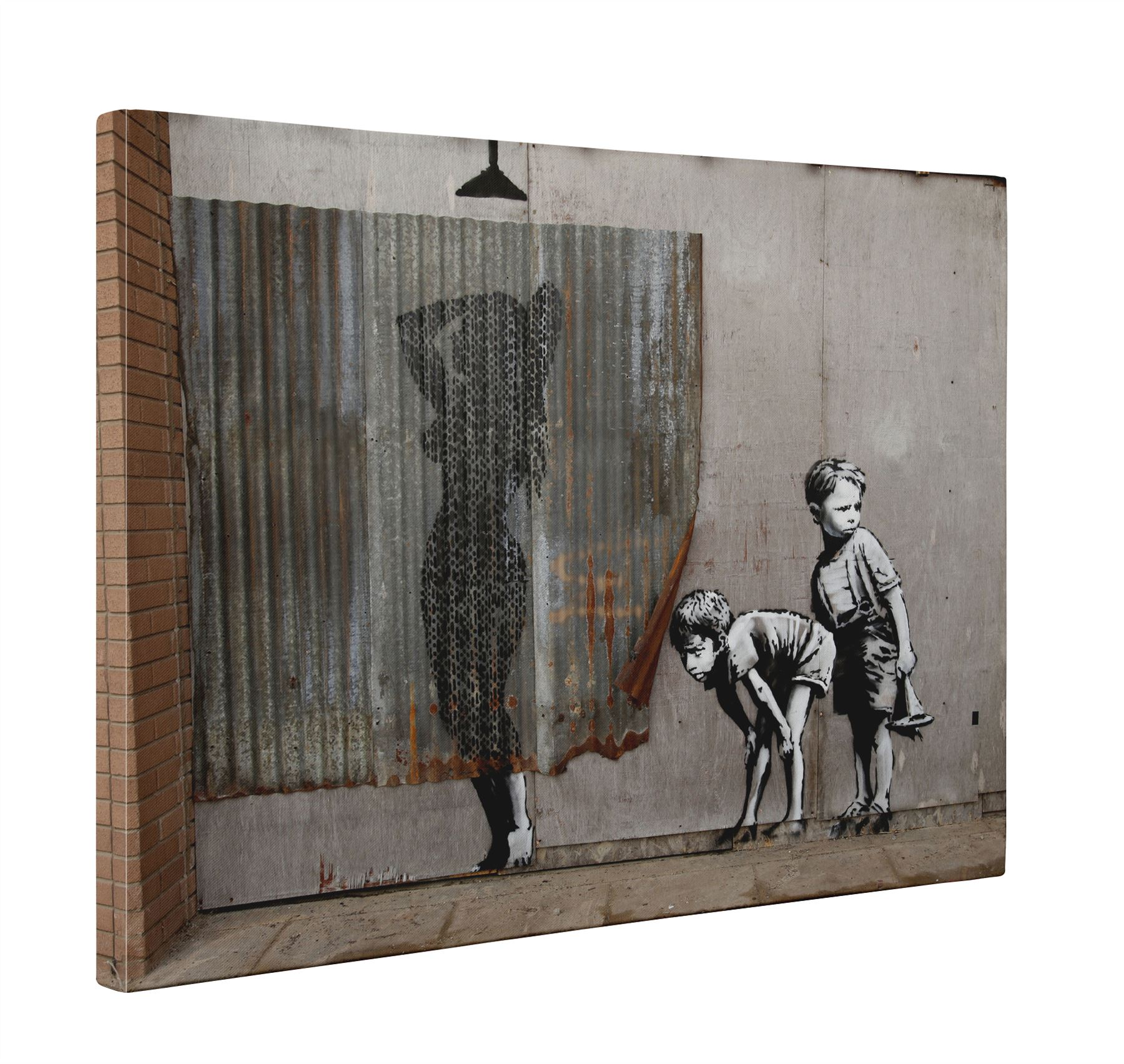 6245951112592 Details about Banksy Shower Kids Peeping Toms Box Canvas Print Wall Art -  Choice of Sizes