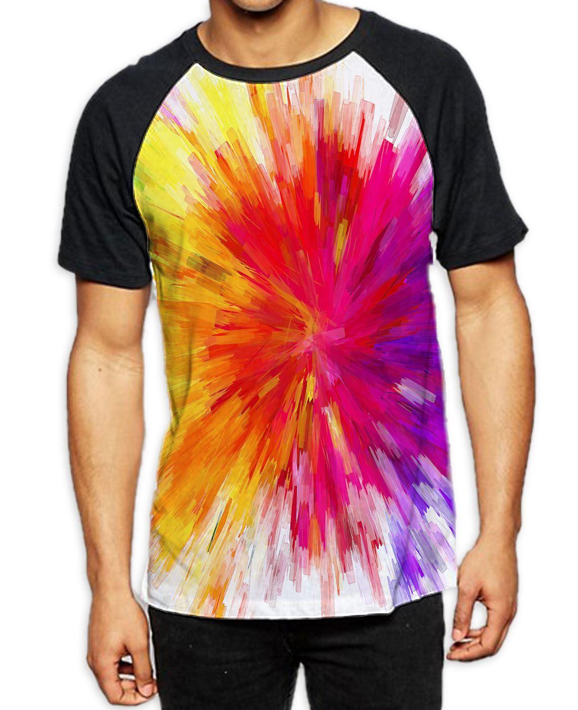 Embrace Life Art T-Shirt Abstract Rainbow Skull Mountain Deer Spiritual E025