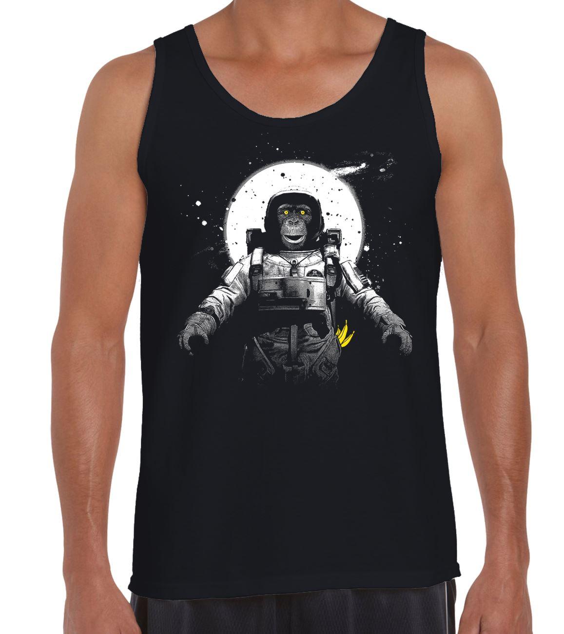 Funny Space Chimpanzee Astronaut Monkey Men/'s Vest Tank Top
