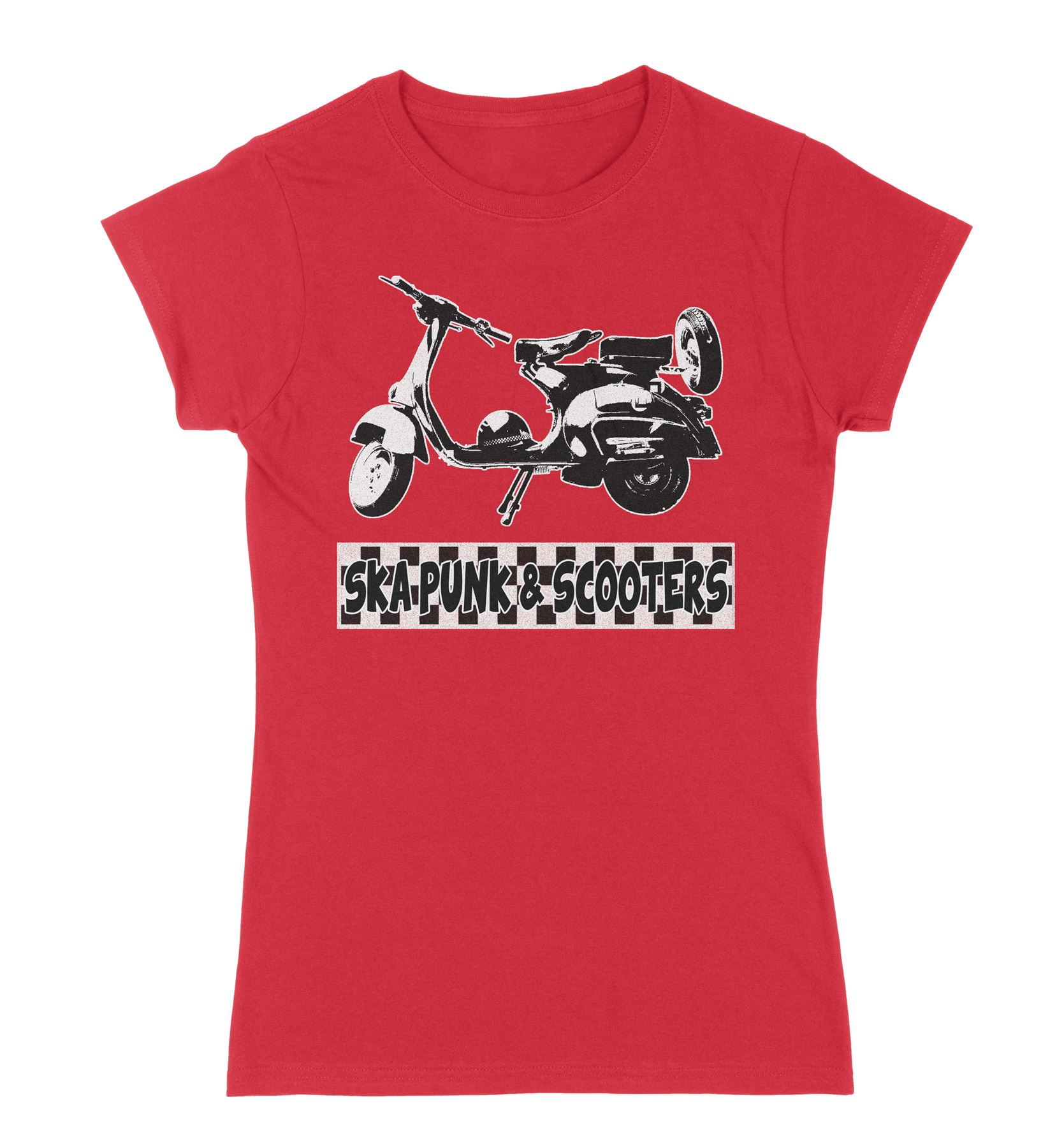 Ska Punk /& Scooters Women/'s Mod T-Shirt