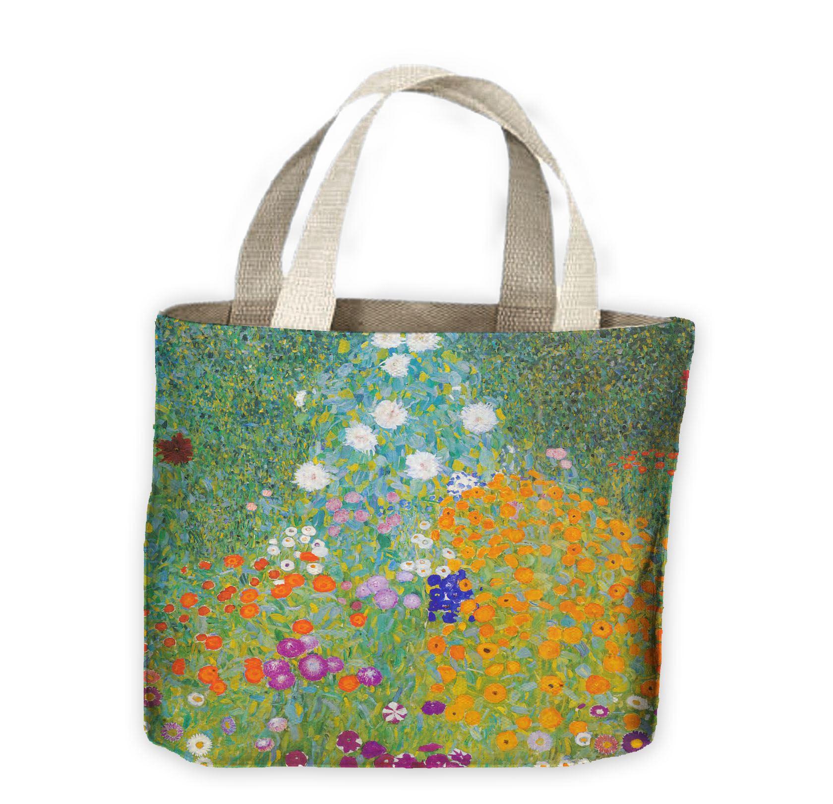dc3ae8fc580 Gustav Klimt Flower Garden Tote Shopping Bag For Life 5056031655967 ...