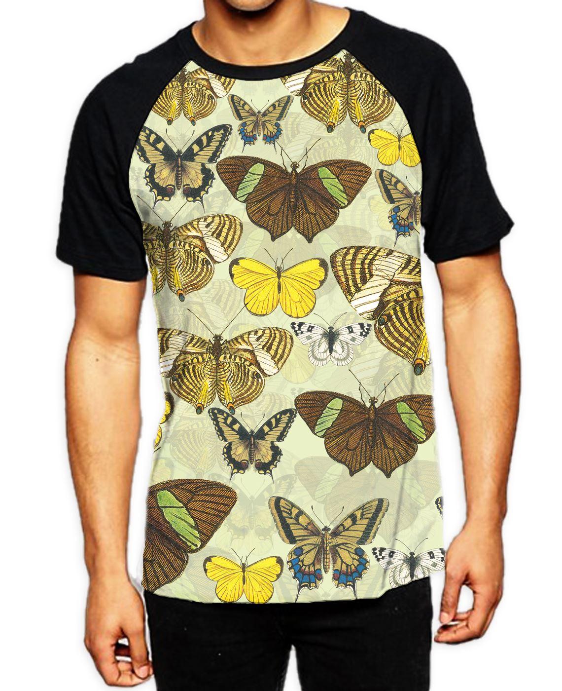 Fish Scales Green Men's All Over Print Graphic Contrast Baseball T Shirt T-shirts pour homme Vêtements et accessoires